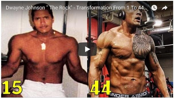 Se hvordan kroppen til The Rock har utviklet seg fra han 15 år til nå!